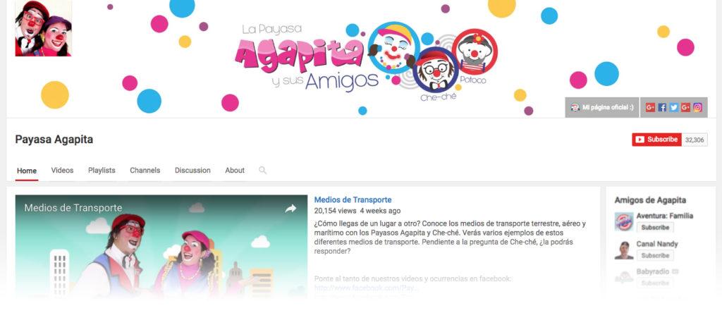 imagen del canal de YouTube Payasa Agapita