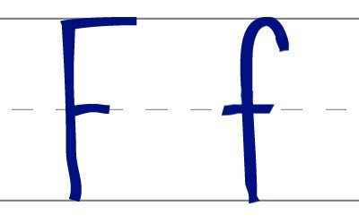 Escritura de la Letra F