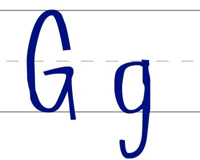 Escritura letra G