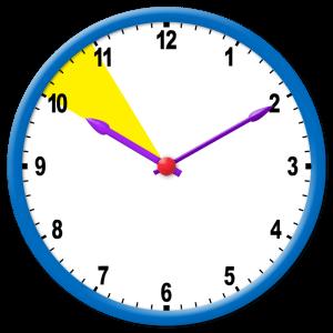 Rango de la hora en un reloj de manecillas