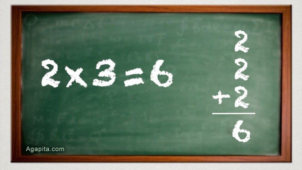 Multiplicación ejemplo 2x3=6 tabla del 0