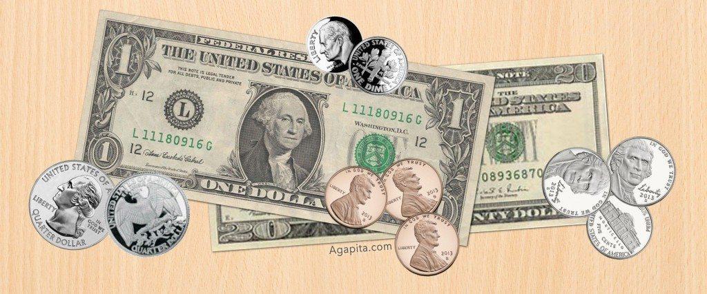 Valor de la moneda Estados Unidos estadounidense por Payasa Agapita