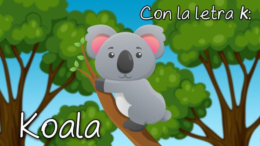 Koala, con la letra k