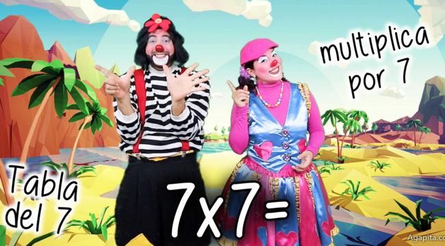 Multiplicación: Tabla del 7